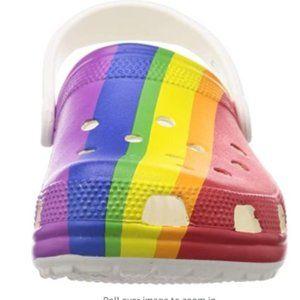 Crocs Rainbow Unisex Adult Clog Slip on Shoes